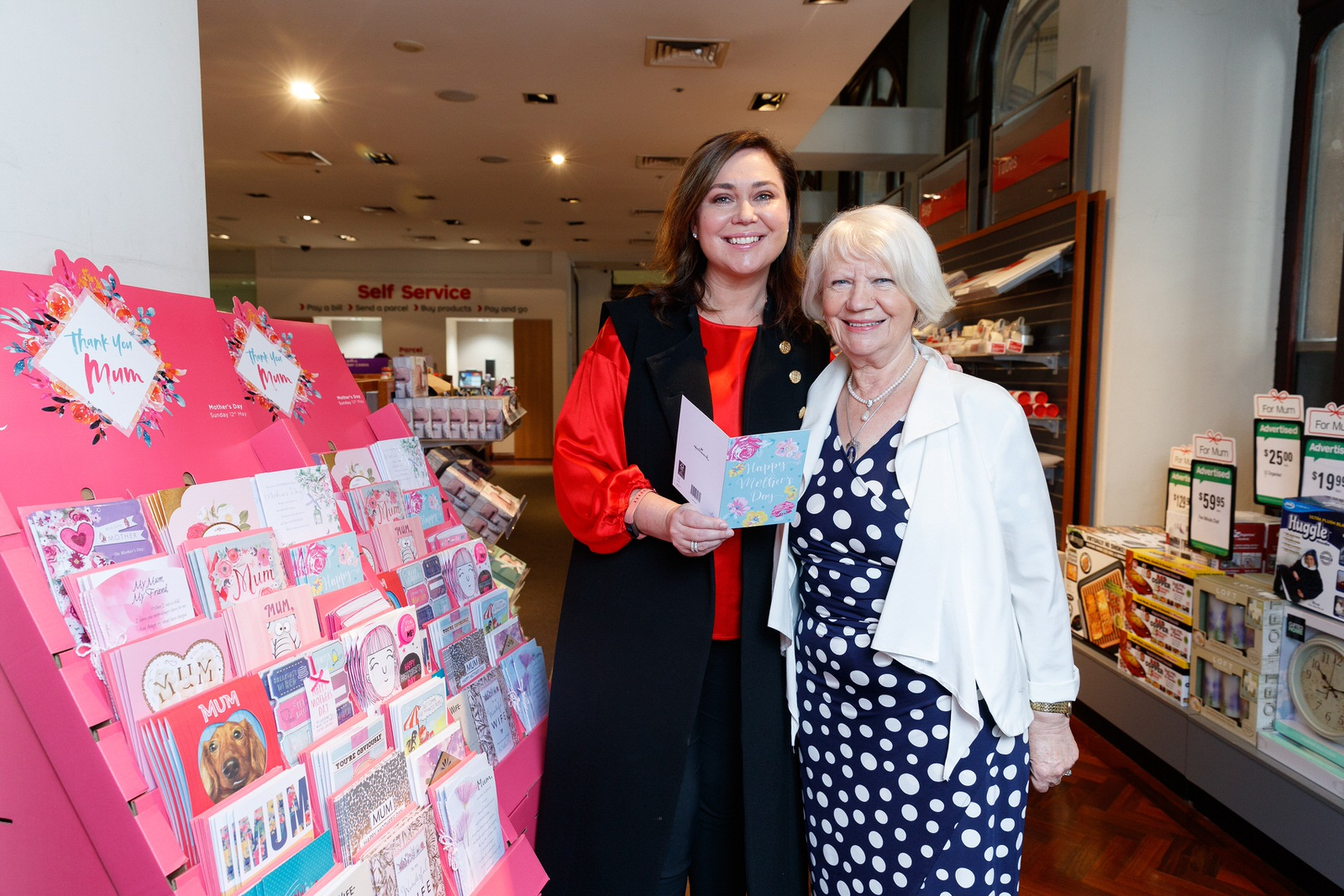 Australia Post Executive GM Nicole Sheffield with mum Czesia 3