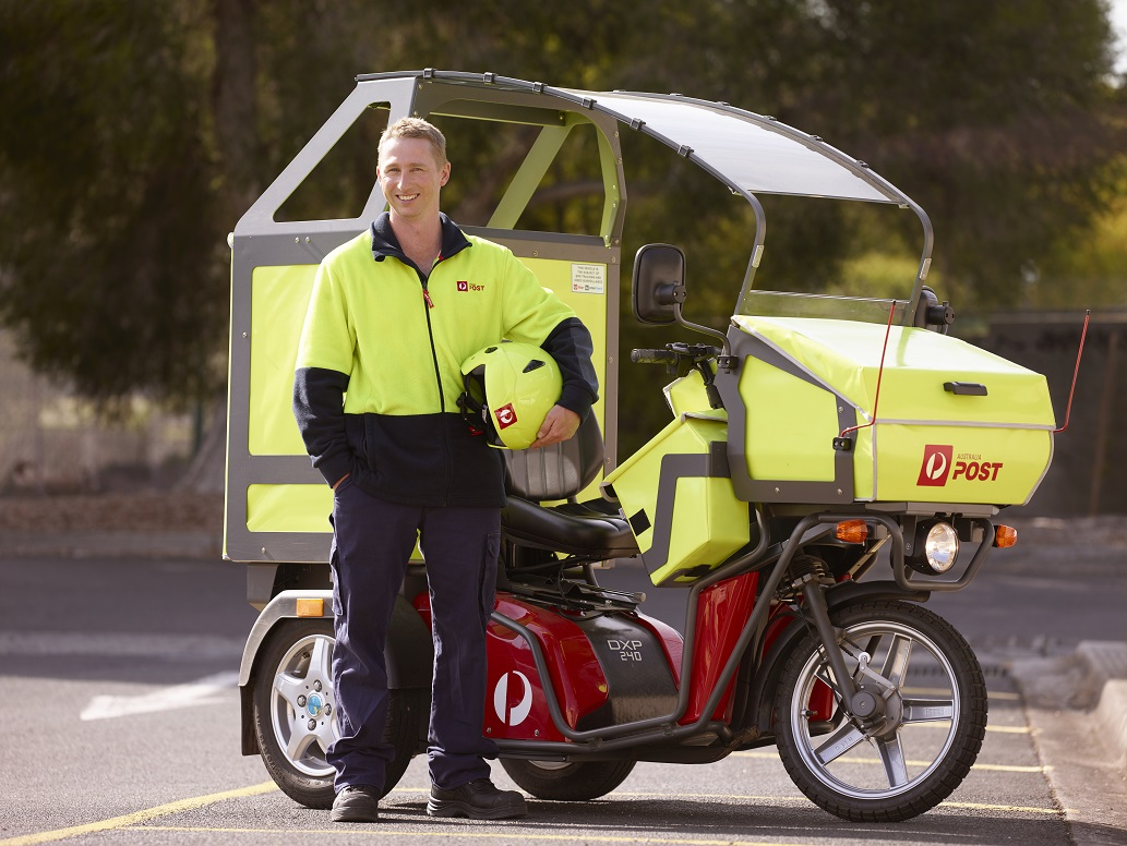 Australia Post's three wheeled electric delivery vehicle