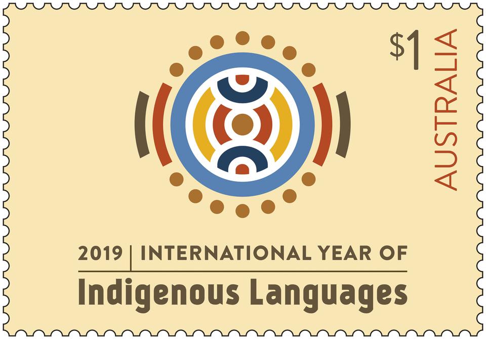 Australia Post Indigenous languages stamp