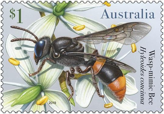 Australia Post Bees Stamp 01