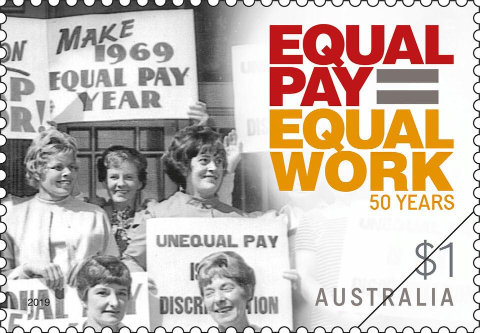 Australia Post Principle Equal Pay Stamp