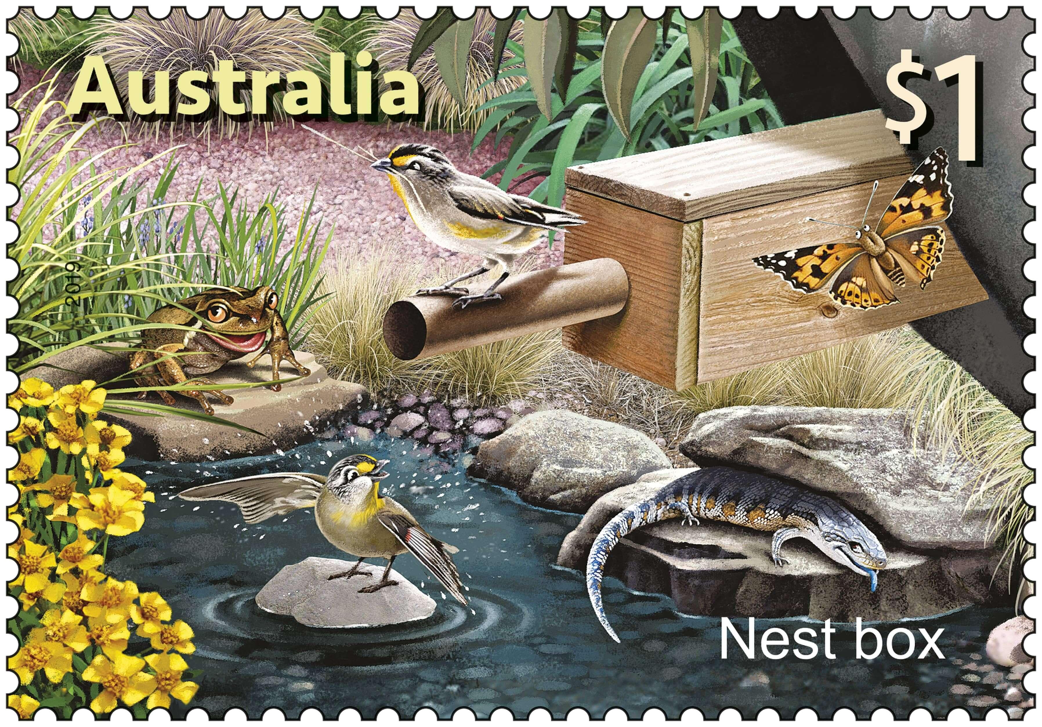 Australia Post SCM Nest Box Stamp