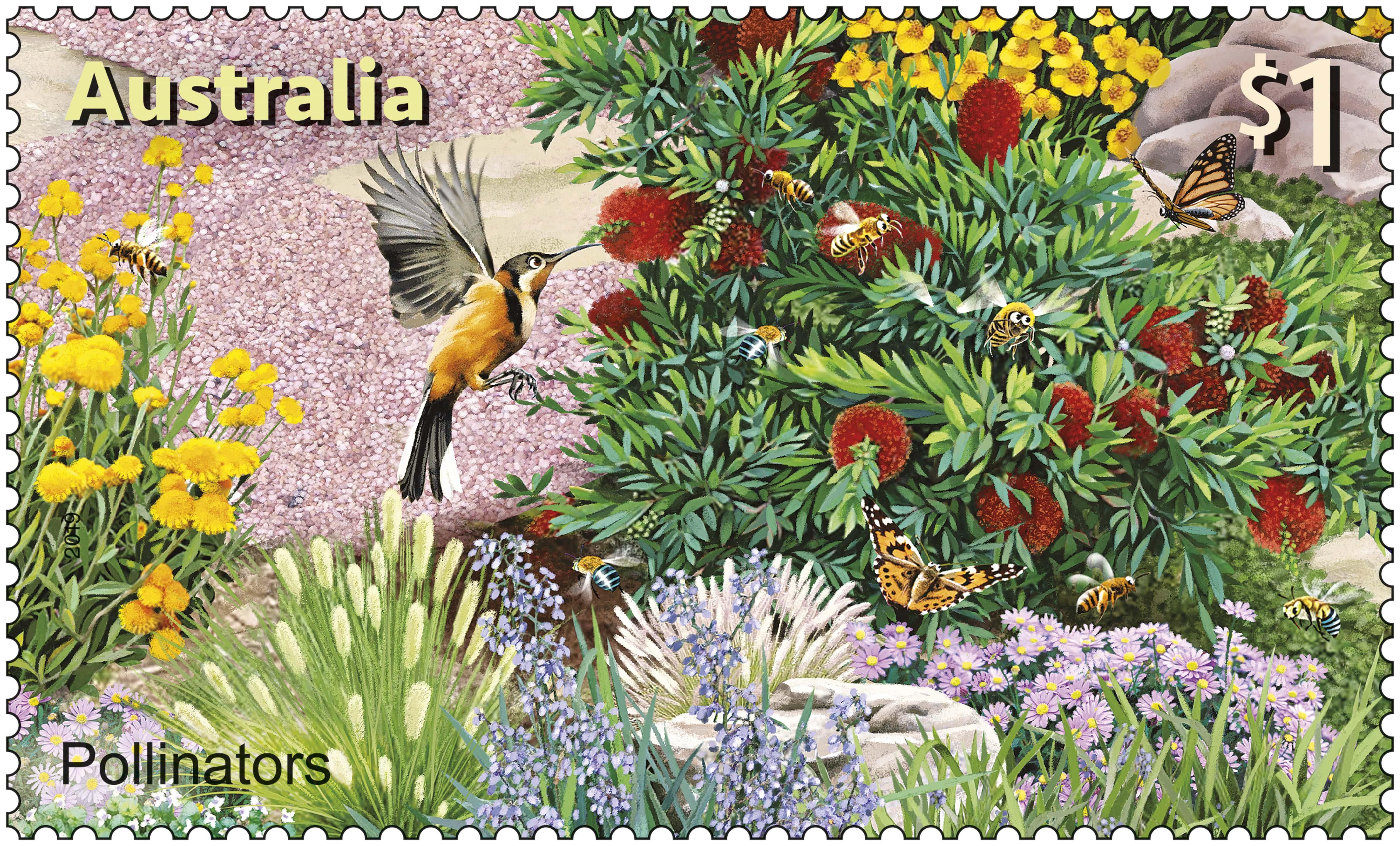 Australia Post SCM Pollinators Stamp