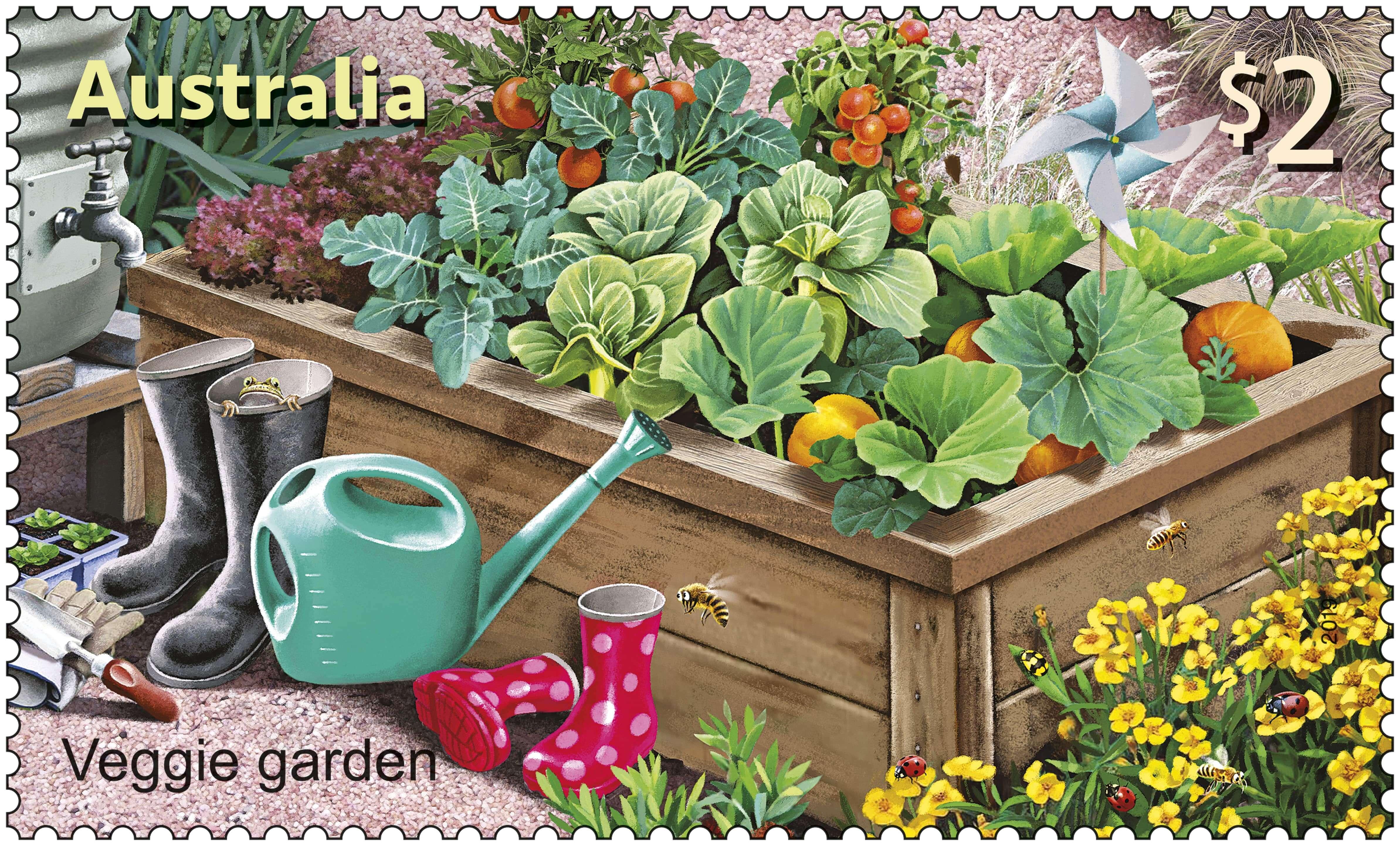 Australia Post SCM Veggie Garden Stamp