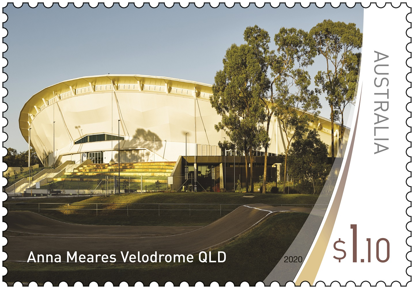 Anna Meares Velodrome Stamp