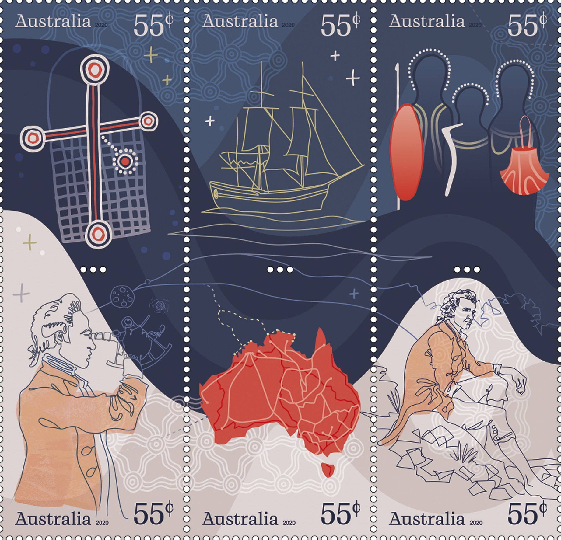 Navigating History Stamps 1 2 3