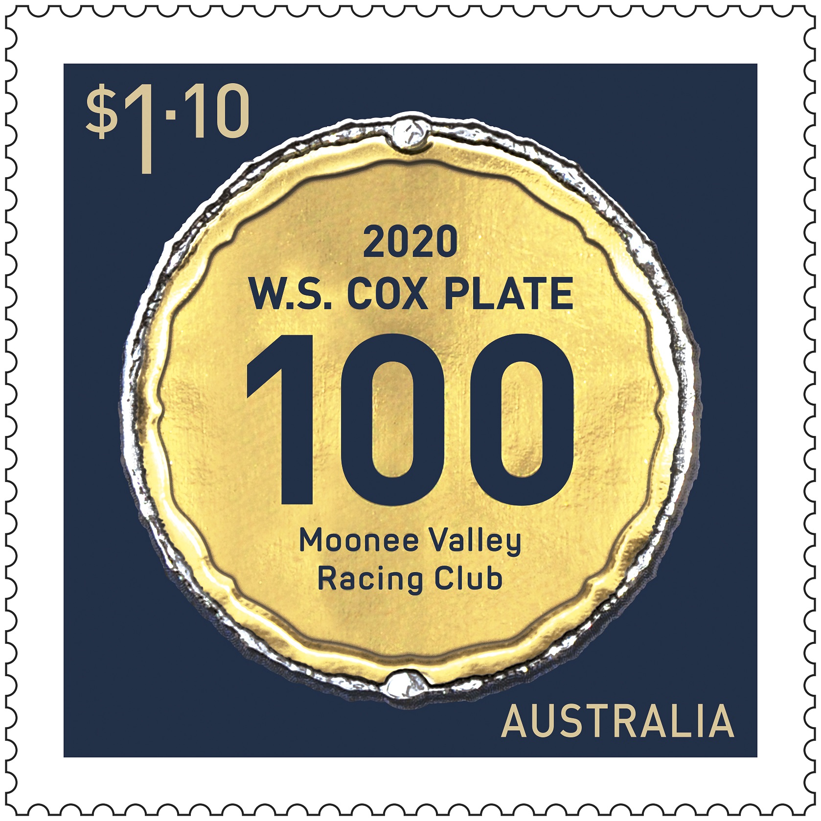 WS Cox Plate 100 Stamp