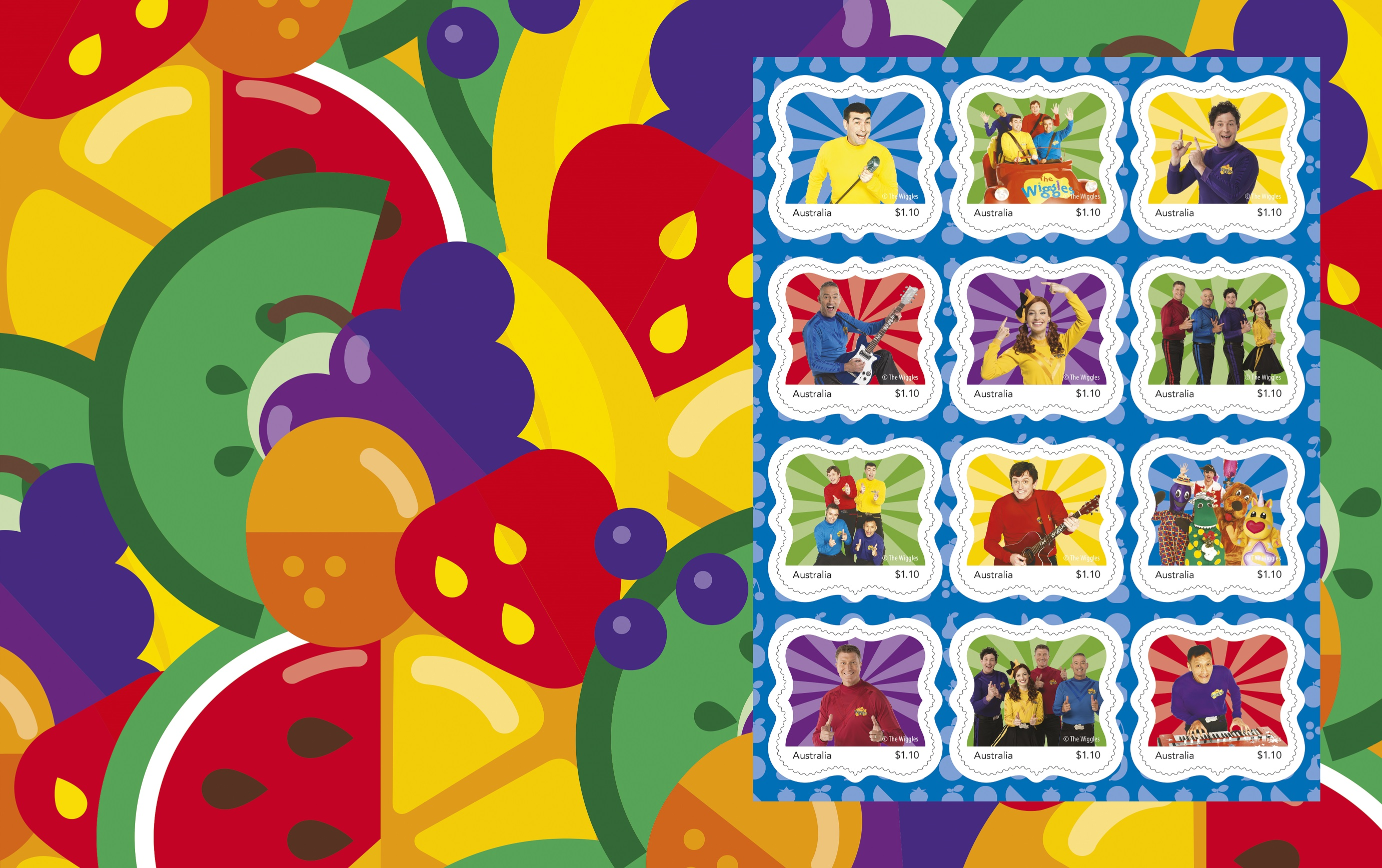 The Wiggles stamp pack 2 lowres